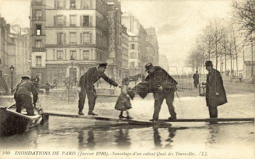 Flooding of Paris, France, January 1910