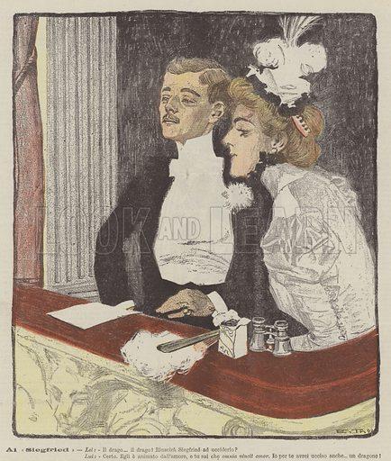 Al Siegfried. Illustration for La Domenica Del Corriere, 14 January 1900.