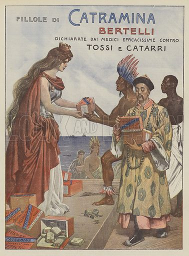 Catramina Bertelli. Illustration for La Domenica Del Corriere, 21 January 1900.