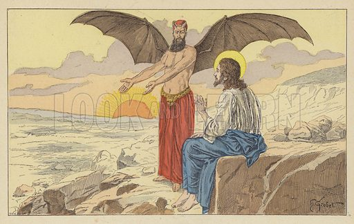 Jesus tempted by the Devil