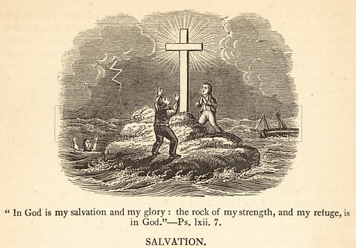 Salvation. Illustration for Religious Emblems and Allegories by William Holmes (new edition, William Tegg, 1868).