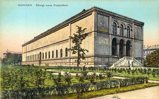 Munich, Pinakothek.  Postcard, early 20th century.