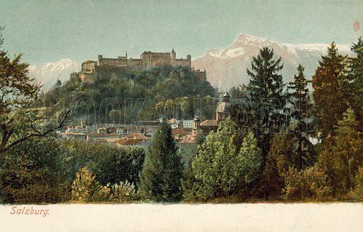 Salzburg. Postcard, early 20th century.