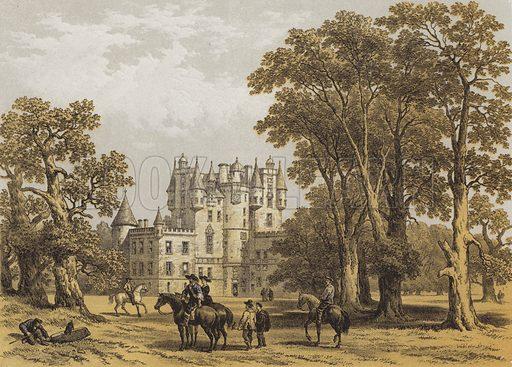 Glammis Castle, Forfarshire. Illustration for Scotland Picturesque Historical Descriptive by John Parker Lawson (Murdoch, c 1895).