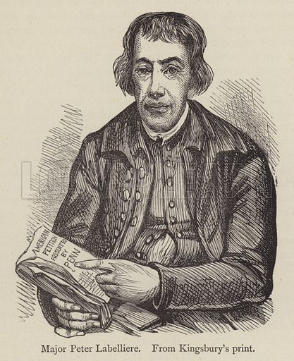 Major Peter Labelliere, from Kingsbury's print. Illustration for English Eccentrics and Eccentricities by John Timbs (Chatto and Windus, 1877).