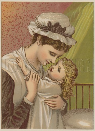 Baby Saying Good Night Look And Learn History Picture Library