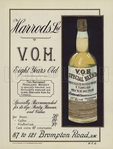 Harrods Highland Whisky