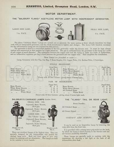 Page From Harrods Catalogue 1903 Look And Learn History Picture