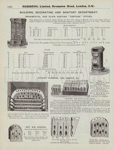 Page from Harrods catalogue, 1903.