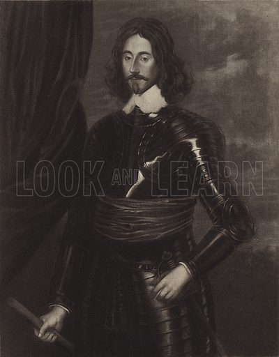 General Sir Thomas Fairfax. From the Painting by Robert Walker, in the collection of Earl Spencer, at Althorp Park, Northamptonshire. Illustration for Oliver Cromwell by Samuel Rawson Gardiner (Goupil, 1899).
