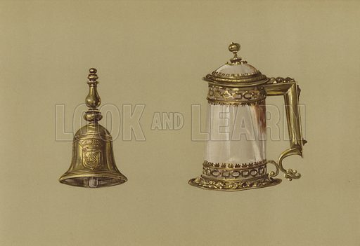 Hand-Bell of Mary Queen of Scots, Covered Tankard of Agate