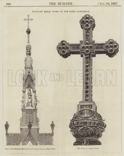 Wrought Metal Work in the Paris Exhibition. Illustration for The Builder, 10 August 1867.