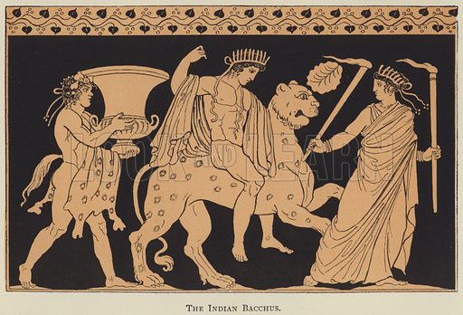 The Indian Bacchus. Illustration for A Young Macedonian in the army of Alexander the Great by Alfred J Church (Seeley, 1890).