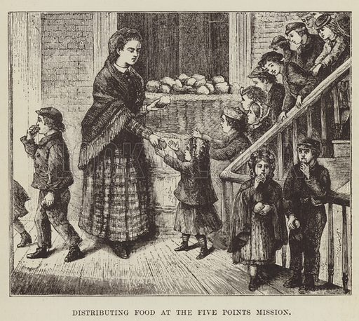 Distributing Food at the Five Points Mission. Illustration for America Revisited (5th edn, Vizetelly, 1885).