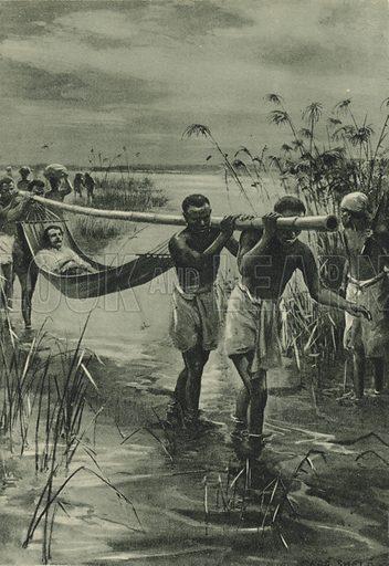 The Last Journey of David Livingstone. Illustration for Arthur Mee's Story Book (Hodder and Stoughton, c 1920).