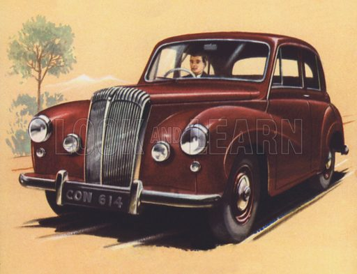 Britain, Daimler Conquest Saloon. Illustration for The Boys' Book of Modern Motor Cars by TE North (Blackie, 1950s).