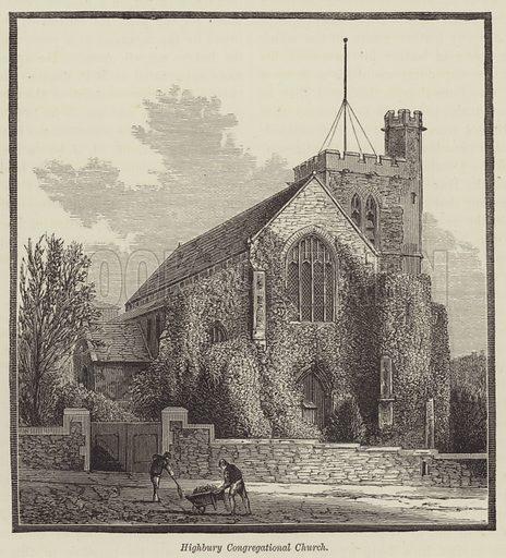 Highbury Congregational Church. Illustration for Bristol Past and Present by JF Nicholls and John Taylor (JW Arrowsmith, 1881).
