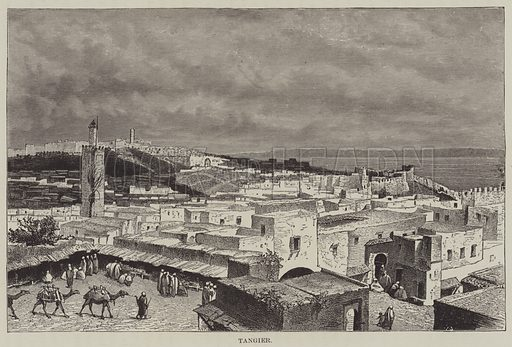 Tangier. Illustration for Conquests of the Cross, A Record of Missionary Work throughout the World edited by Edwin Hodder (Cassell, c 1890).