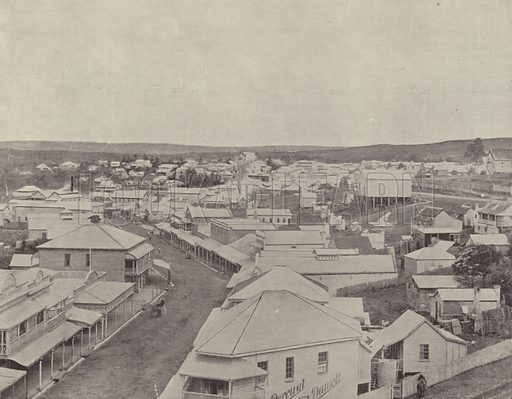 Gympie. Illustration for Glimpses of Australia (Werner Company, c 1895).