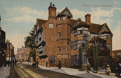 Eastgate House, Rochester. Postcard, early 20th century.