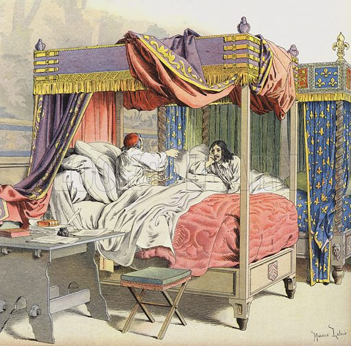 Richelieu and King Louis XIII in adjacent beds at the time of the conspiracy of Cinq-Mars