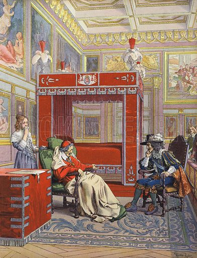 The last visit of King Louis XIII to a dying Richelieu