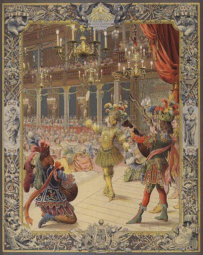 Louis XIV, costumed as the Sun, dancing at le ballet de la nuit