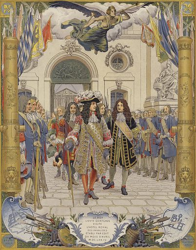 King Louis XIV and the opening of L'Hotel Royal Des Invalides