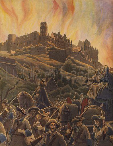 Burning of the castle of Heidelberg
