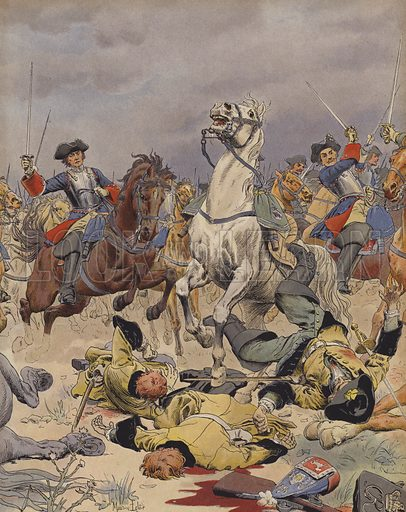 The Battle of Malplaquet, last charge of the French cavalry