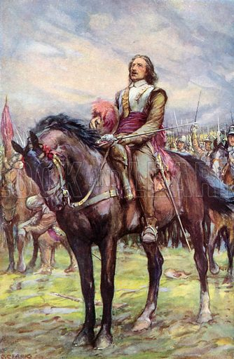 Oliver Cromwell calling on God's support before battle