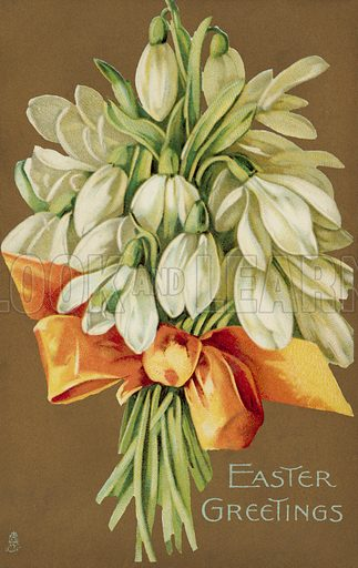 Bunch of snowdrops, Easter Greetings
