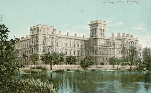 The Foreign Office, London.  Postcard, early 20th century.