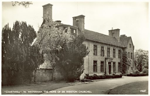 Chartwell, nr Westerham, the home of Sir Winston Churchill.  Postcard, early 20th century.