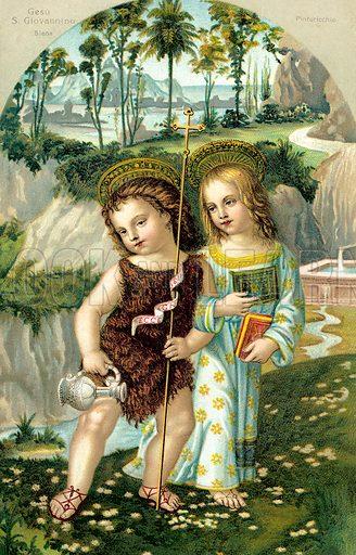 Jesus Christ and John The Baptist as children