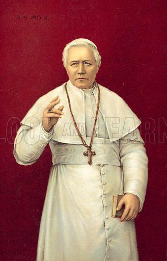 Pope Pius X.  Postcard, early 20th century.