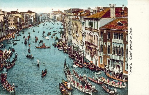 Grand Canal, Venice.  Postcard, early 20th century.