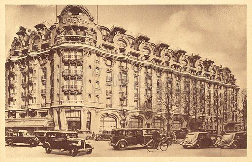Hotel Lutetia, Paris.  Postcard, early 20th century.