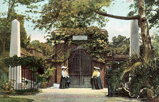 Tomb of George Washington, Mount Vernon.  Postcard, early 20th century.