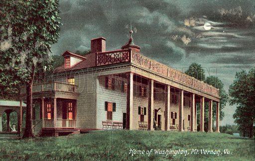 Home of George Washington, Mount Vernon, Virginia. Postcard, early 20th century.