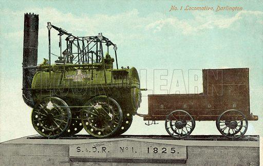 No 1 Locomotive, Darlington. Postcard, early 20th century.
