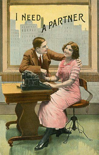 Flirting typist