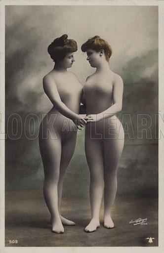 Two women in bodystockings