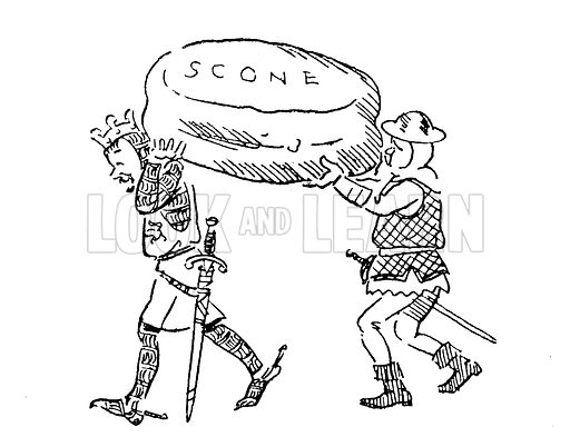 King Edward I stealing the Stone of Scone