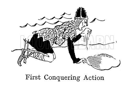 William The Conqueror, on arrival in England