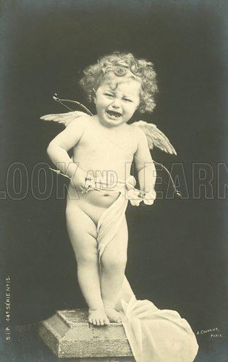 Crying cherub