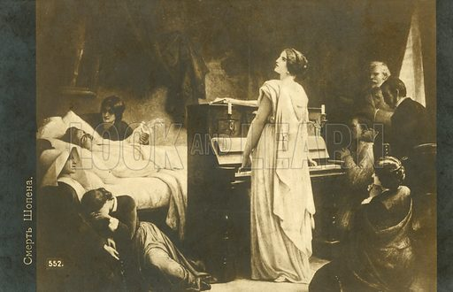 The death of Chopin, 1849