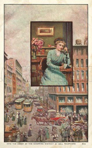 Women telephoning a shop