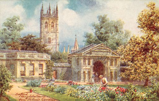 Magdalen Tower from the Botanical Gardens, Oxford