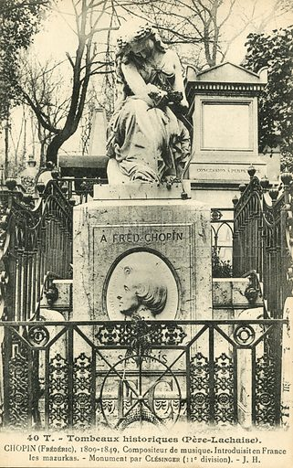 Tomb of Frederic Chopin, Pere Lachaise Cemetary, Paris